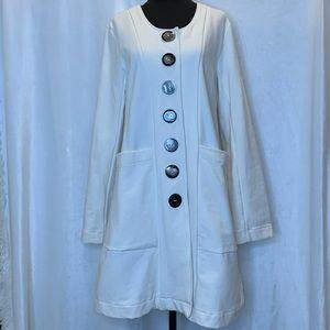 Neon Buddha cream/ivory button down jacket